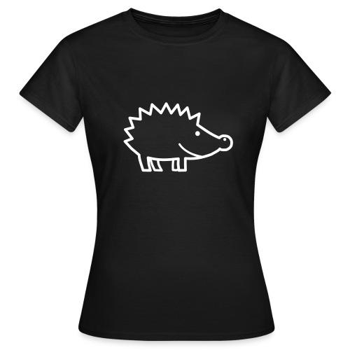 T-Shirt Igel im Profil - Frauen T-Shirt