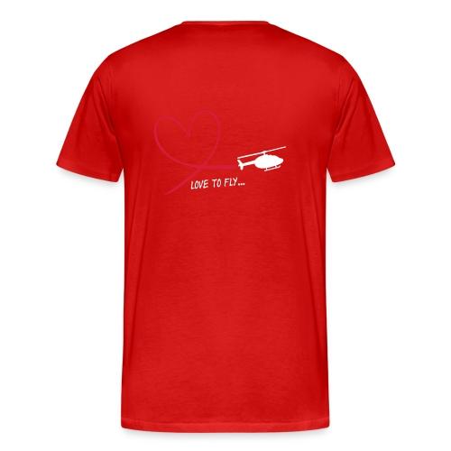 Männer T-Shirt love to fly... - Männer Premium T-Shirt