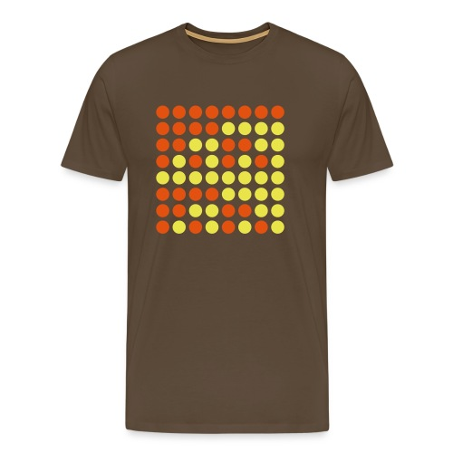 Binaerzahlenquadrat, braun - Männer Premium T-Shirt