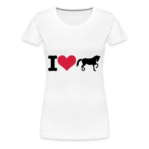 I LOVE HORSES / WOMEN'S T-SHIRT - Women's Premium T-Shirt