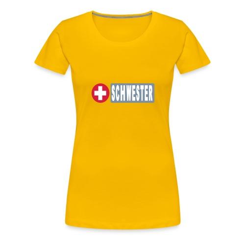 Shirt Schwester - Frauen Premium T-Shirt
