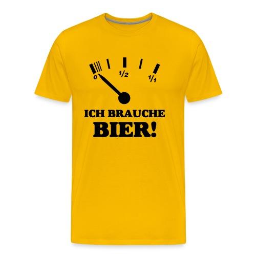 Brauche Bier! - Männer Premium T-Shirt