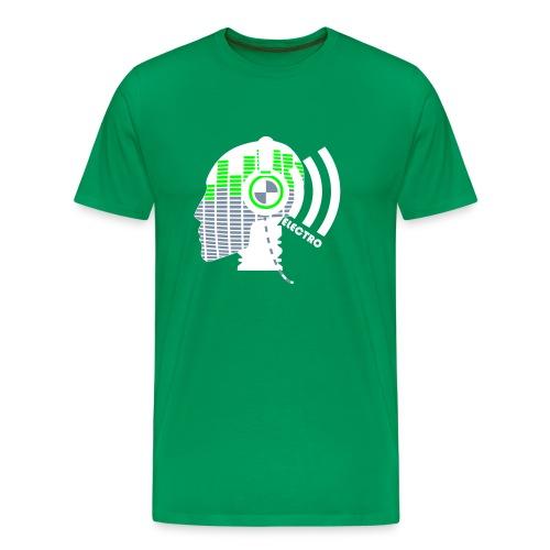 Koszulka męska Premium - electro, music, head, dance