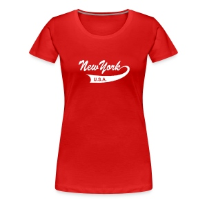 Girlie-Shirt NEW YORK USA rot - Frauen Premium T-Shirt