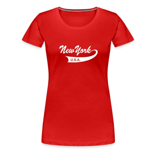 Girlie-Shirt NEW YORK USA rot - Frauen Premium T-Shirt