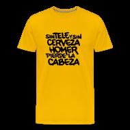Camisetas ~ Camiseta premium hombre ~ Sin tele y sin cerveza Homer pierde la cabeza