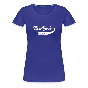 Girlie-Shirt NEW YORK USA türkis - Frauen Premium T-Shirt
