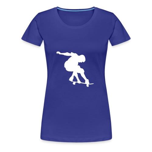 T-Shirt pour femme ou fille aimant le skateboard . - T-shirt Premium Femme