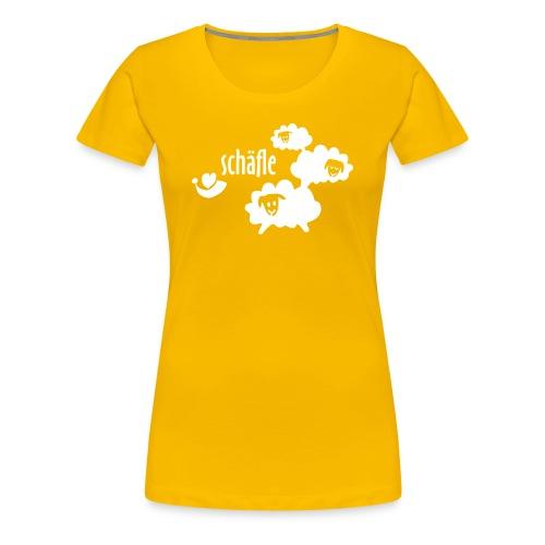 Schäfle Damenshirt, rosa/ weiss - Frauen Premium T-Shirt
