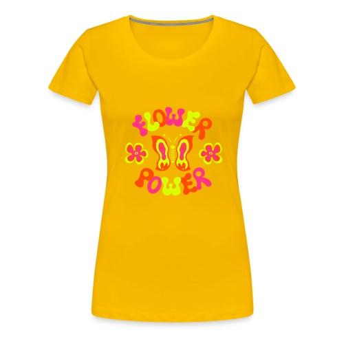 FLOWER POWER - Naisten premium t-paita