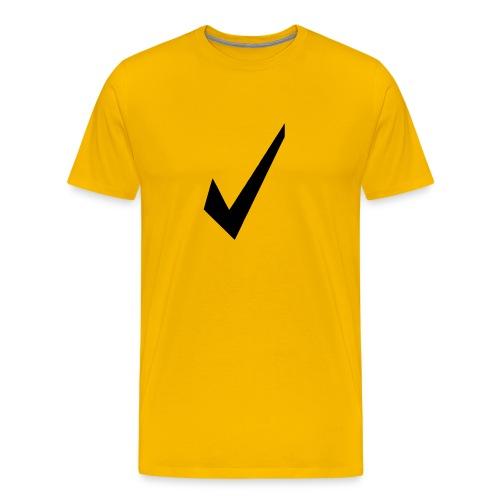 chek yellow - Men's Premium T-Shirt