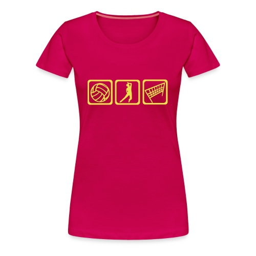 Volleyball-Girlie - Frauen Premium T-Shirt
