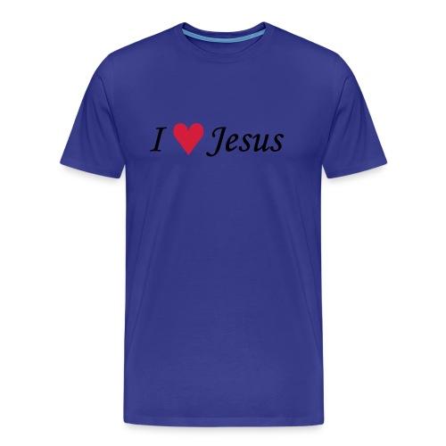 T-shirt da uomo |t-shirt I Love Jesus - Maglietta Premium da uomo