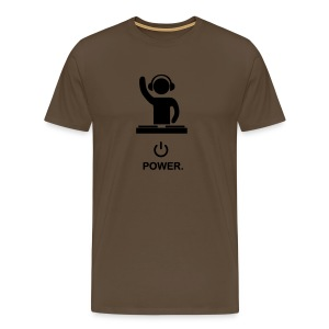 Power dj - t shirt  - Men's Premium T-Shirt