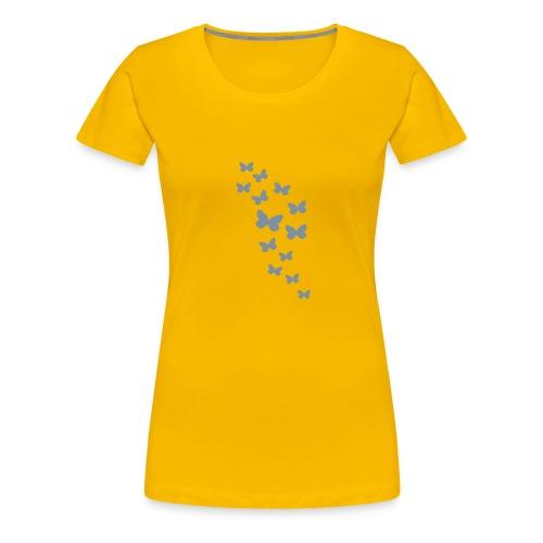 Butterflies (silver) - Women's Premium T-Shirt