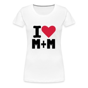 I heart M+M - Women's Premium T-Shirt