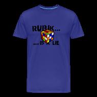 Camisetas ~ Camiseta premium hombre ~ rubik is a lie - Camiseta chico azul intenso