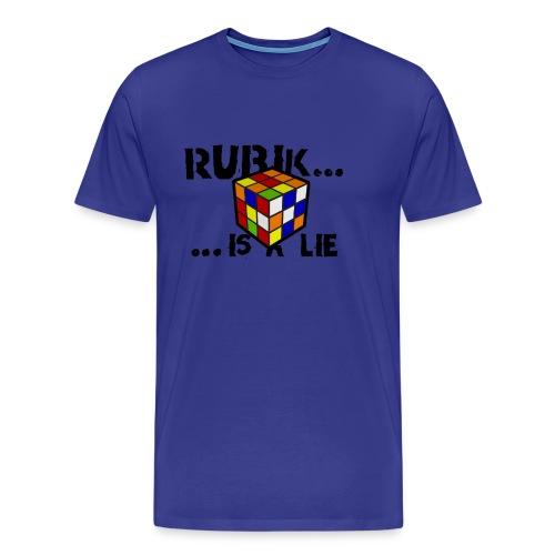 rubik is a lie - Camiseta chico azul intenso - Camiseta premium hombre