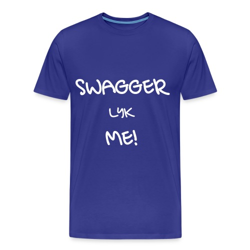 SWAGGER LYK ME BLUE/WHITE - Men's Premium T-Shirt