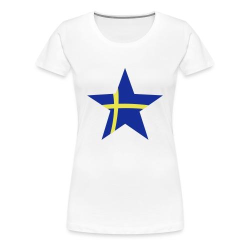Sweden Star (blue & yellow) - Women's Premium T-Shirt