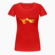 Red little fire dragon (c) Women's T-Shirts