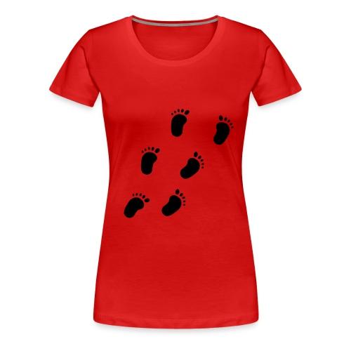 Fotspor - Premium T-skjorte for kvinner