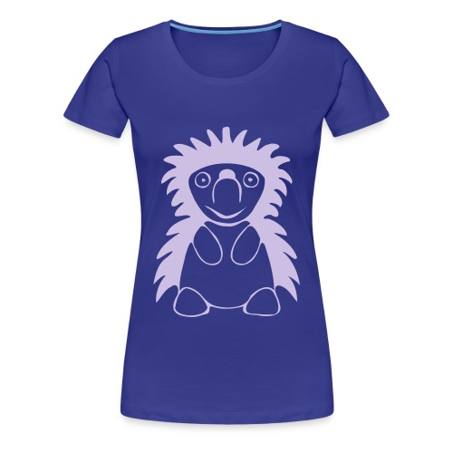 Igel königsblau - Frauen Premium T-Shirt