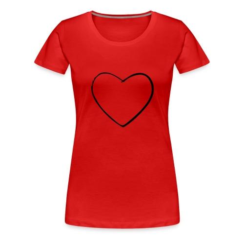 Love Tshirt dam - Premium-T-shirt dam