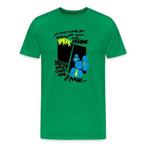 hear the music, hellgrün - Männer Premium T-Shirt