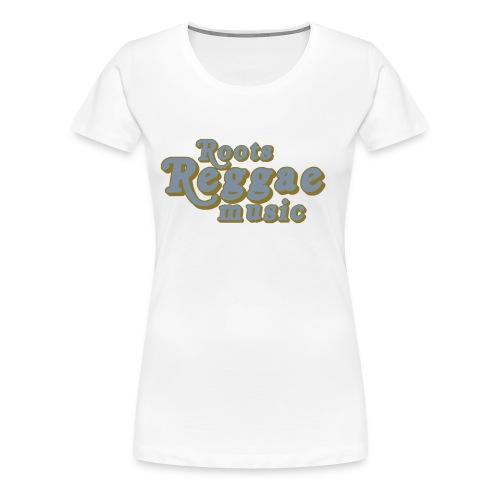 REGGAE MUSIC ARGENT/GOLD - T-shirt Premium Femme