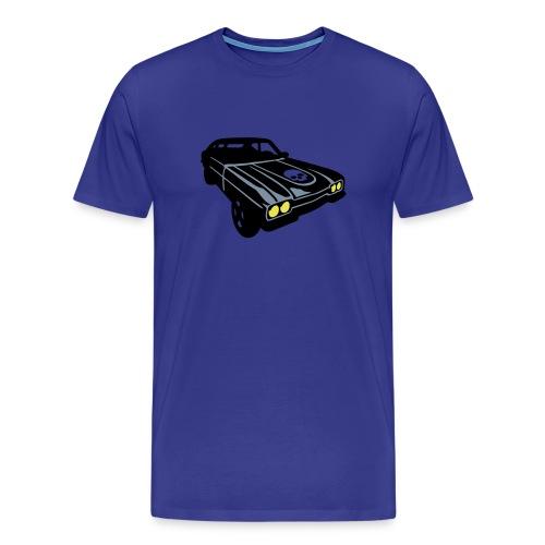Muscle car blue - Camiseta premium hombre