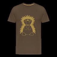 T-Shirts ~ Männer Premium T-Shirt ~ Igel Gold Glitter