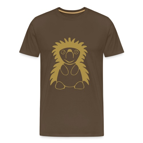 Igel Gold Glitter - Männer Premium T-Shirt