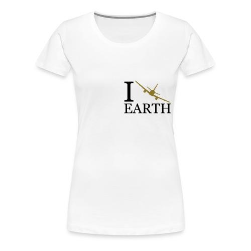 I fly earth - damska - Koszulka damska Premium