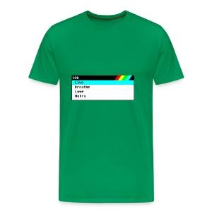 Live, Breathe, Love, Retro Spectrum - Men's Premium T-Shirt