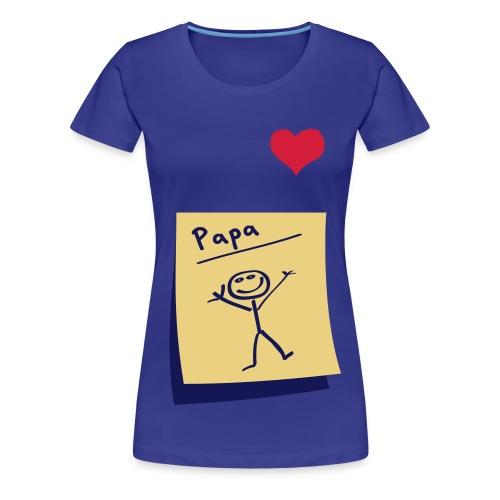Hartje papa - Vrouwen Premium T-shirt