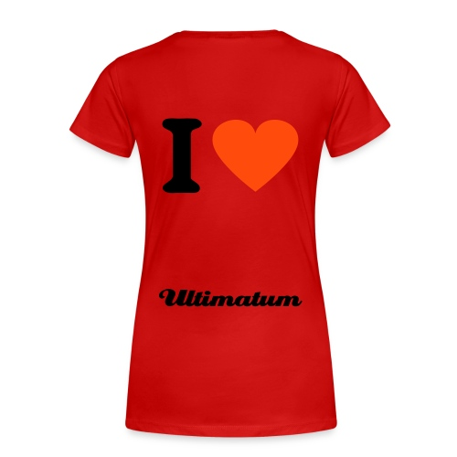 Ultimatum - Music is life - T-shirt Premium Femme