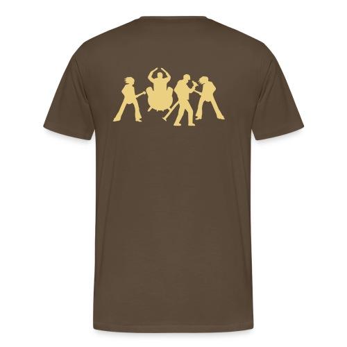 Helium- brun - Premium T-skjorte for menn