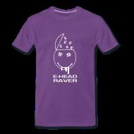 T-Shirts ~ Men's Premium T-Shirt ~ E Head Raver Smiley Face