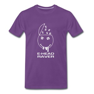 E Head Raver Smiley Face - Men's Premium T-Shirt