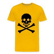 T-Shirts ~ Men's Premium T-Shirt ~ Logo on front, Pirate M. & name on back
