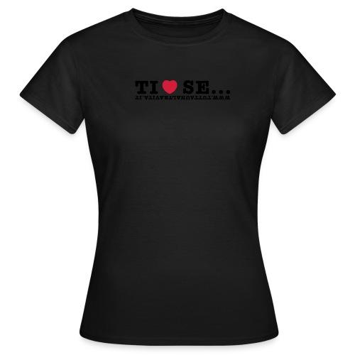 Tshirt marron Ti amo se - Maglietta da donna