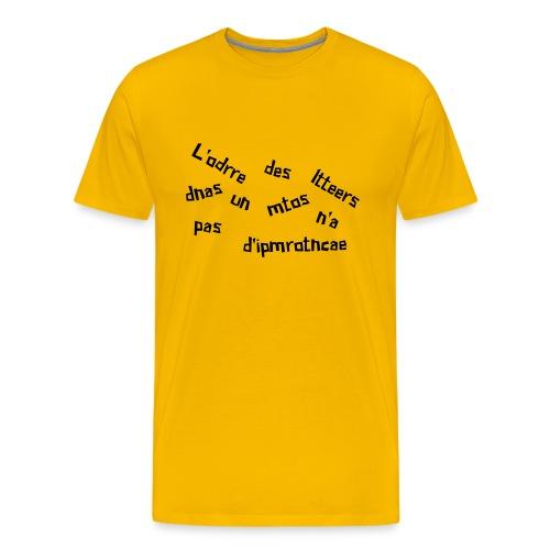 ordre des lettres - T-shirt Premium Homme