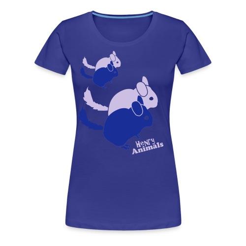 Girlieshirt türkis mit Chinchilla Pop Art - Frauen Premium T-Shirt