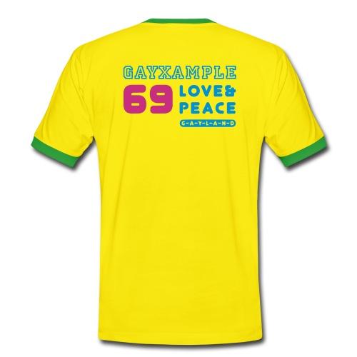 Gay teeshirt contrast Gayxample (yllw) // SEE BACK - Barcelona gay - Men's Ringer Shirt