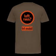 T-Shirts ~ Männer Premium T-Shirt ~ luft raus Shirt Rückseite