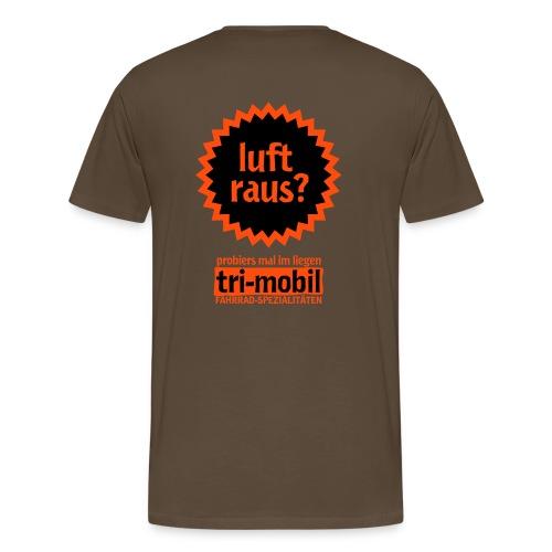luft raus Shirt Rückseite - Männer Premium T-Shirt