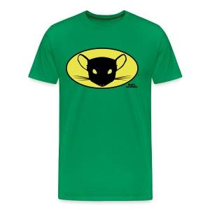 Basisshirt khaki mit Chinchilla Man - Männer Premium T-Shirt