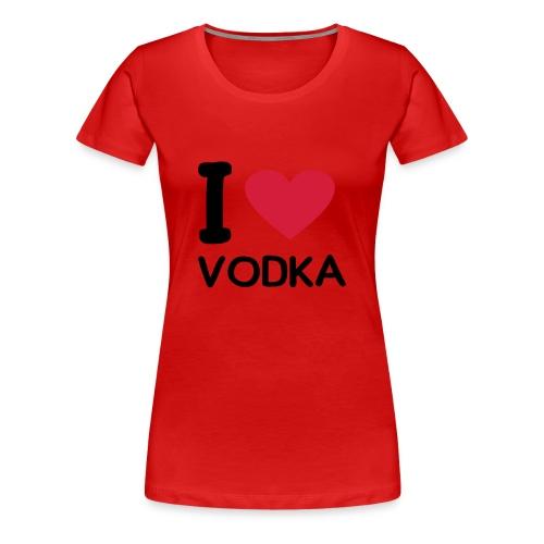 I LOVE VODKA - Koszulka damska Premium
