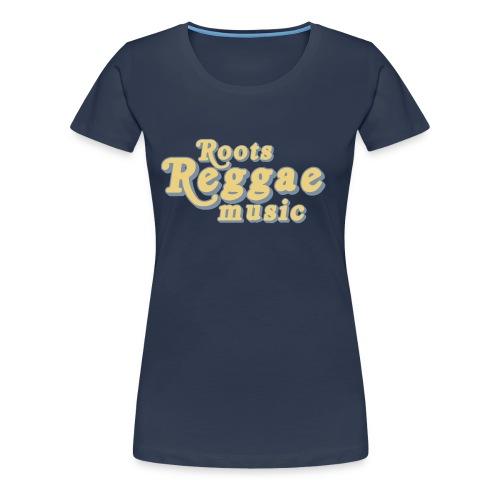 REGGAE MUSIC BEIGE/ARGENT - T-shirt Premium Femme